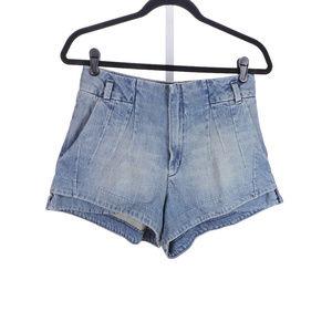 Levi's High Rise Pleated Denim Shorts Size 29